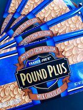 2 ! Trader Joe's Belgium Pound Plus Bar Milk Chocolate With Almonds (17.6 Oz)