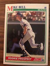 1991 Score Rookie Prospect Mike Bell Atlanta Braves 375