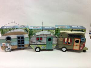 Birdhouse Caravan Garden Ornament