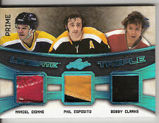 2016 LEAF ULTIMATE TRIPLE PATCH MARCEL DIONNE, PHIL ESPOSITO & BOBBY CLARKE 4/5