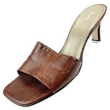 Bass Womens Size 9 M Pumps Slides Brown Leather Shoes
