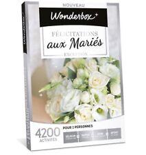 coffret wonderbox Mariage / Duo Wonderbox / Week-end Wonderbox / Activité