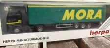 "Herpa 142557 MB axes EURO Valise semi-remorque "" MORA "" MODELE EXPORT France"
