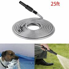 New Stainless Steel Garden Hose Water Pipe 255075100ft Flexible