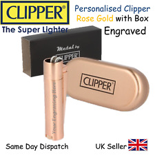 PERSONALISED ENGRAVED CLIPPER LIGHTER - ROSE GOLD -GIFT BEST MAN BIRTHDAY