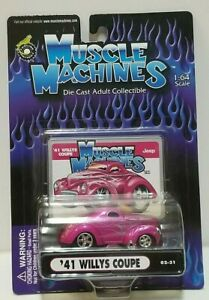 Muscle Machines '41 Willys Coupe Pink 02-31 1:64 1/64