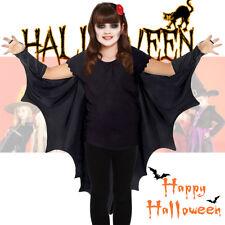 Niño Disfraz Gótico Alas De Murciélago Vampiro Capa Nuevo Traje De Halloween Vestido de fantasía