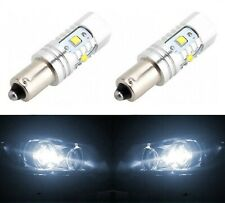 LED Light 30W BA9s White 5000K Two Bulbs Parking Backup Marker Turn Signal