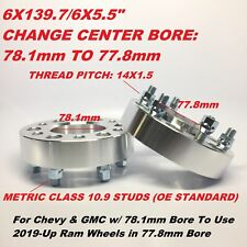 """2pc 1.5"""" Hubcentric Wheel Spacers ¦ 6x5.5 (6X139.7) ¦ 14X1.5 