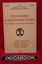 PSYCHANALYSE ET PSYCHOLOGIE SOCIALE - Livre grand format