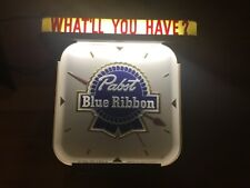 1950 s very rare Pabst blue ribbon lighted sign with clock both working