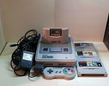 SNES Super Nintendo Konsole mit Spielen und Kabeln 1992