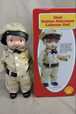 "SHELL STATION ATTENDANT 13"" BUDDY LEE DOLL WITH COLLECTIBLE TIN"