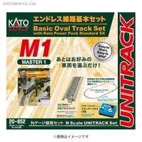New Kato 20-852 M1 Unitrack Basic Oval Track Set w/Controller (BM1)