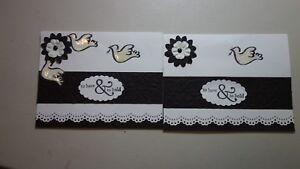 Lot Handmade Wedding Cards Black White Using Stampin Up Martha Stewart