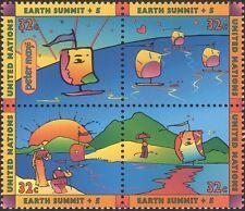 Naciones UNIDAS (NY) 1997 cumbre de la Tierra + 5/Entorno/Océano/barcos/atardecer 4 V Set Negro (n31657)
