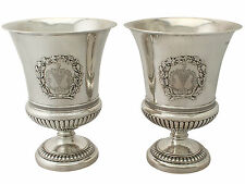 Sterling Silver Wine Coolers by Paul Storr - Antique George III