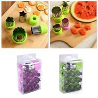 12X Stainless Steel Food Mold Set Fruit Vegetable Mini Cutter Tool Shape Q4E3