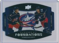 CLEAR CUT FOUNDATIONS 2020-21 UD COLUMBUS BLUE JACKETS SERIES 1 CARD #CCF-NW