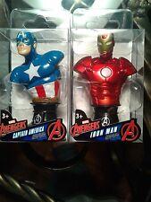Marvel Avengers Iron Man / Captain American Mini Bust Paperweight figure
