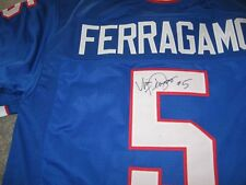 Buffalo Bills  Vince Ferragamo signed Jersey W/COA with
