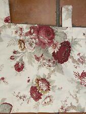 Waverly Garden Room Vintage Norfolk Red Rose Floral Tab Top Curtains Valance