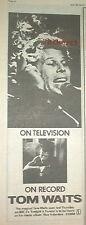 "TOM WAITS Blue Valentine 1979 UK Press ADVERT 16x6"""