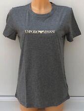 3854ee9e2e0f7 EMPORIO ARMANI Dark Grey Melange Graphic Armani Chest Logo Tee XS S M L BNWT