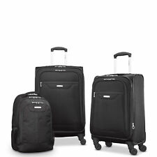 "Samsonite Tenacity 3 Piece Luggage Set - Black, Blue, 25"", 21"", Backpack - Lu..."