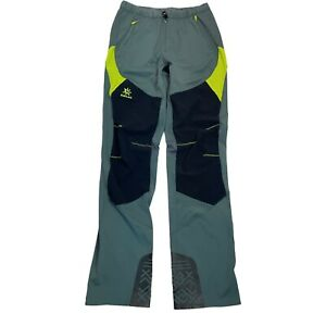 kailas green Black elastic waist zip front rock climbing pants mens Size M