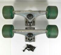 Vtg Santa Cruz GREEN Road Rider Cruzers Trucks for Long Board Skateboard