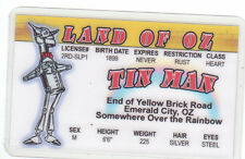 The Tinman Tin Man Land of Oz novelty id card Drivers License Wizard w w denslow