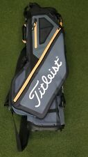New Titleist Players 4-Way Golf Stand Bag Charcoal/Sleet/Orange