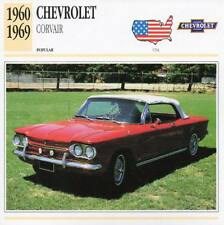 1960-1969 CHEVROLET CORVAIR Classic Car Photograph / Information Maxi Card