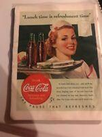 COCA COLA Original 1940s Vintage Print Advertising Coke