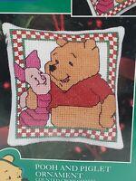 Leisure Arts Kit 113896 2000s Friendship is a Garden Where Love Grows Bunnies DIY NIP Counted Cross Stitch Kit 8-12 x 11-12