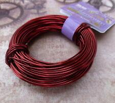 Craft Wire 18gauge (1.02mm) Beadsmith Aluminium Wire Ox Blood Red