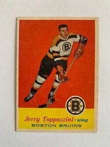 1957-58 Topps #5 Jerry Toppazzini - Boston Bruins / SET BREAK