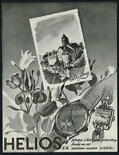 1940's Old Vintage 1949 Helios Swiss Watch Porrentruy Switzerland Art Print AD