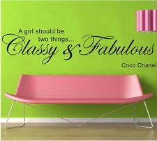 A girl should be glassy &...stickers wall Quote Removable Vinyl Decor Home decal