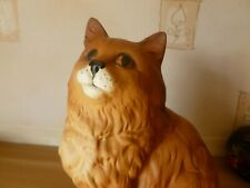 BESWICK    LARGE MATT GINGER  CAT  MODEL 1867