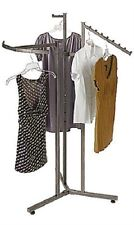 """Clothes Rack Four Way 3 Clothing Garment Retail Display 72"""""""