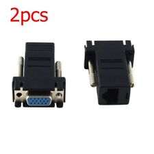 2Pcs Extender VGA Male to RJ45 Network Ethernet Cable Female Adapter universal