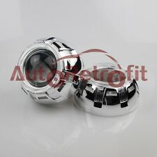 Pair Chrome Orbit Shroud with Angel Eye Cover for 2.5'' and 3.0'' Projector Lens