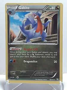 Gabite 89/124 Pokemon Dragons Exalted Dragon Uncommon Damaged Used See Pictures