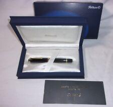 Pelikan M 800 18k Gold Nib Black Fountain Pen w/ Box  T*