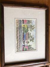 Vintage Monck's Corner's Rainbow Row South Carolina Print Artist Framed Photo
