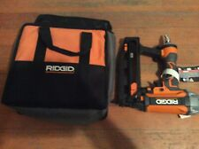RIDGID FINISH NAILER pneumatic with carrying bag