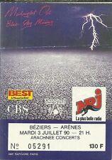 RARE / TICKET BILLET DE CONCERT - MIDNIGHT OIL : LIVE A BEZIERS ( FRANCE ) 1990