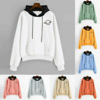 Hoodie Sweater Sweatshirt Long Sleeve Jumper Tops Women's Coat Pullover Hooded